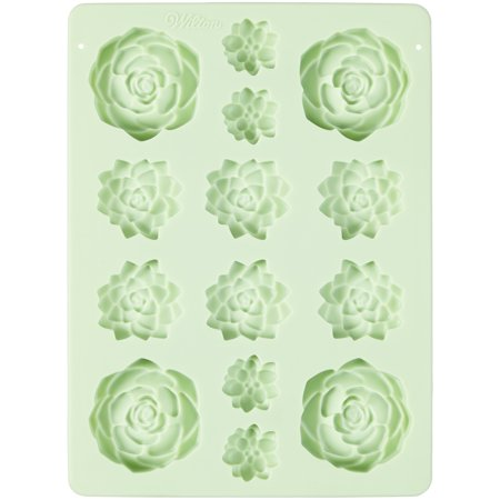 Wilton Succulents Silicone Candy Mold, 14-Cavity (Wilton Chocolate Molds Halloween)