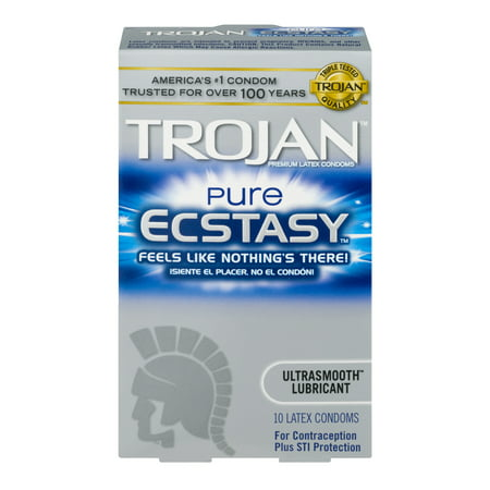 Trojan Pure Ecstacy Ultra Smooth Lubricated Latex Condoms - 10 ct