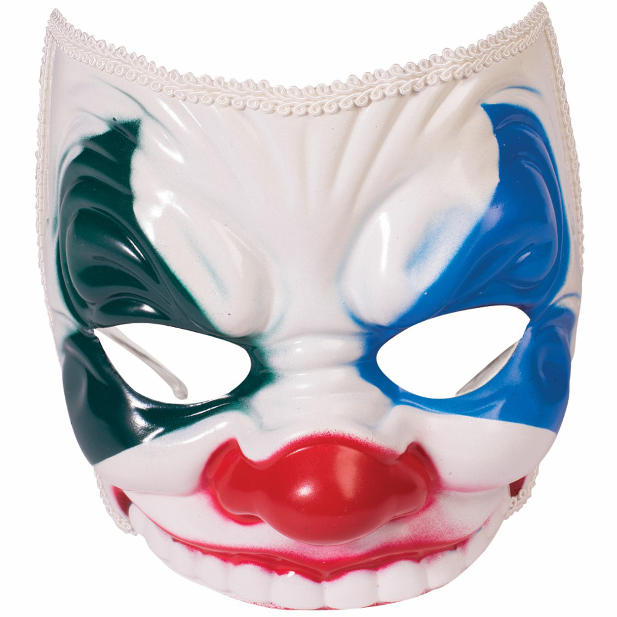 Adult Scary Evil Clown Mask With Eyeglass Frame Costume Accessory