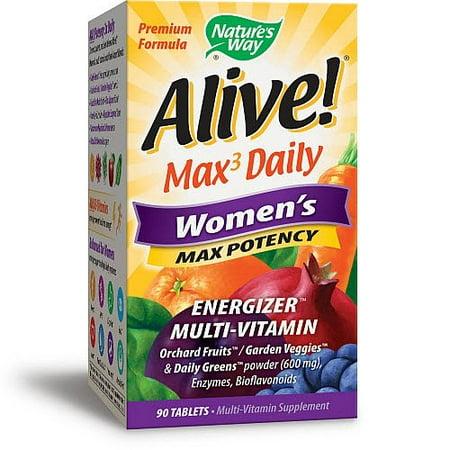 Natures Way Alive  Womens Energizer Multi Vitamin   90 Ct