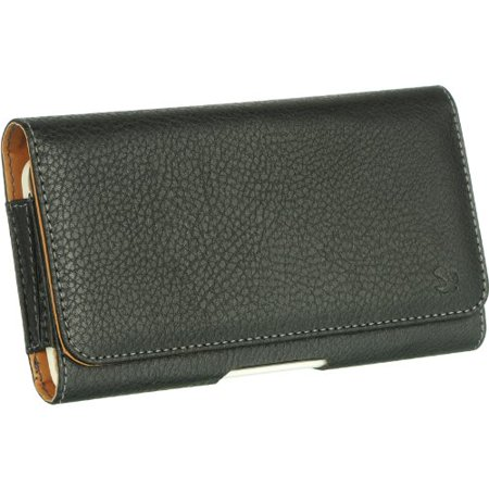 For BlackBerry Motion, Key2, Key2 LE, DTEK60 Premium Horizontal Leather - Blackberry Horizontal Case