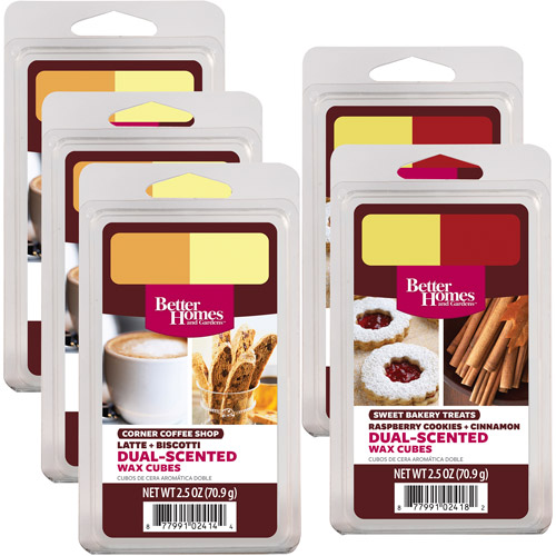Better Homes and Gardens 5-Pack Duo Wax Cubes, Coffee Treats