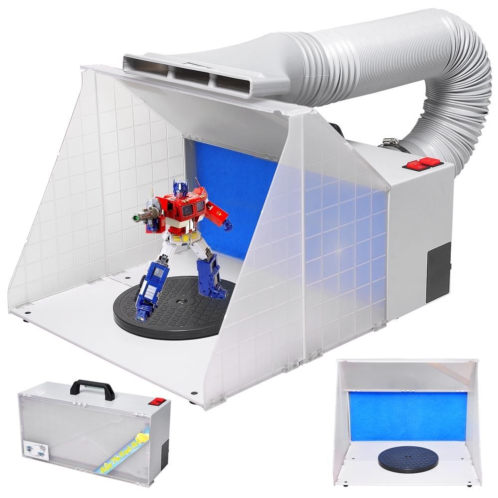 Portable Airbrush Paint Spray Booth Kit Extension Hose Po...