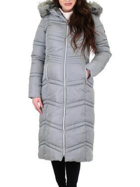 Jessica Simpson Womens Faux Fur Winter Puffer Coat