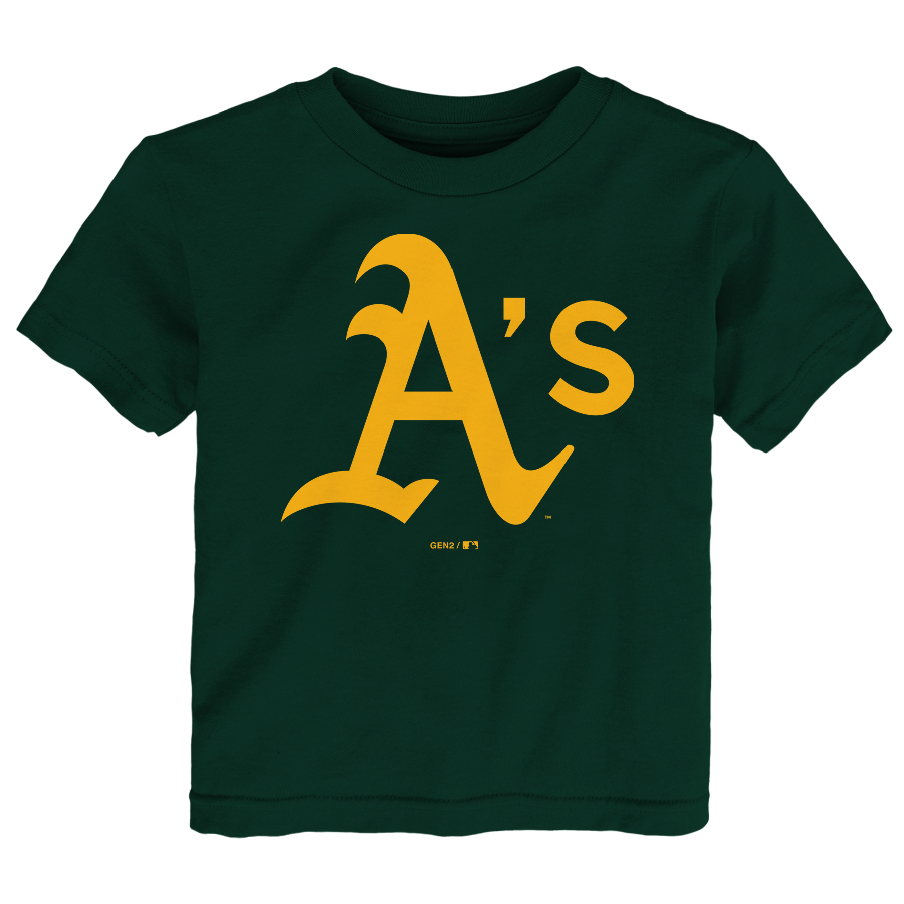 Oakland Athletics Toddler Primary Logo T-Shirt - Green