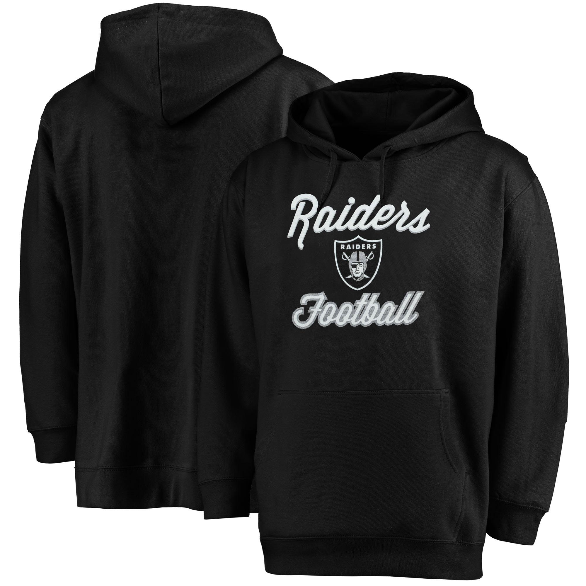 Oakland Raiders Majestic Women's Plus Size Rookie Pullover Hoodie - Black