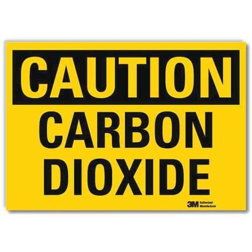 LYLE U4-1105-RD_7X5 Safety Sign,Carbon Dioxide,5in.H x 7in.W G2279098