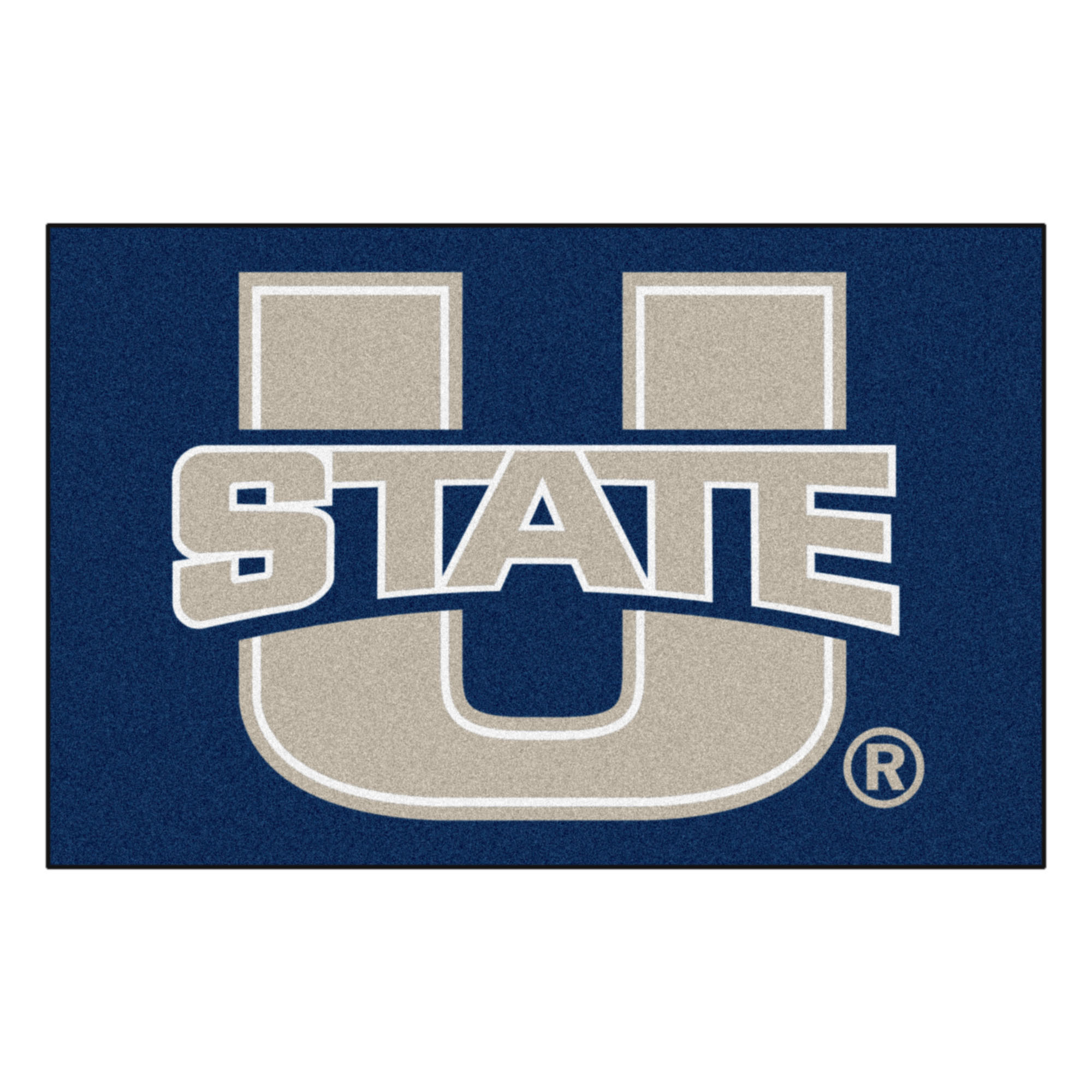 2538 Fanmats College NCAA Utah State University 19 Inch x 30 Inch Nylon Face durable Non-skid chromojet-printed washable Rectangular Starter Mat