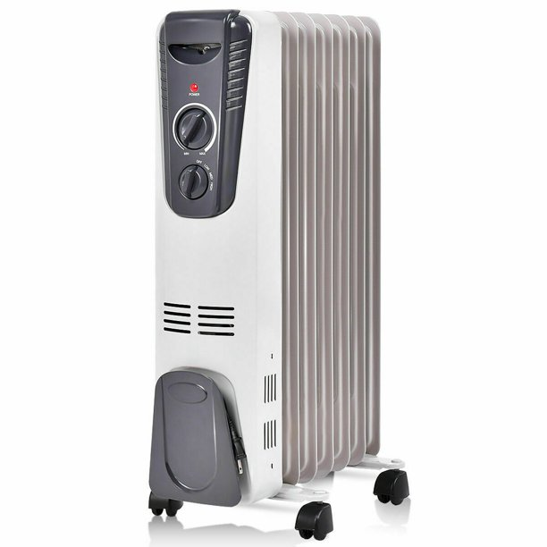Gymax 1500W Oil Filled Space Heater Radiator w/ Overheat Protection Home Office