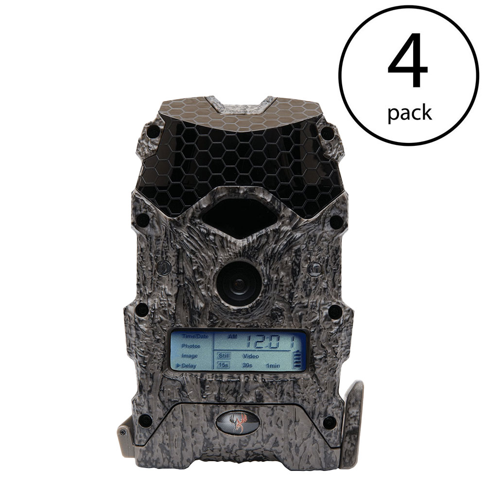 Wildgame Innovations Mirage 16 Lightsout 16MP Hunting Game Trail Camera (4 Pack)