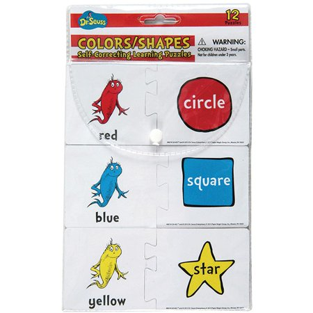 EU-867412 - Dr Seuss Colors / Shapes Self Correcting Puzzle Manipulatives by Eureka