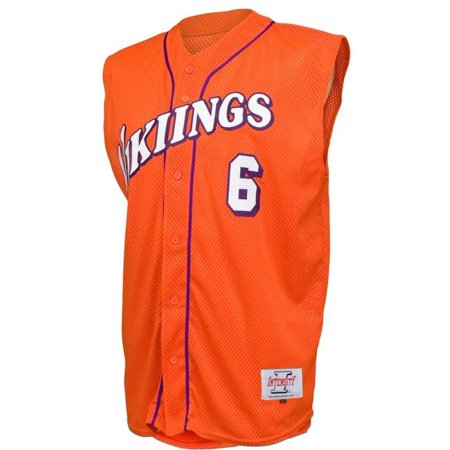 Intensity N4220A811XLG Adult Poly Tuff Mesh Sleeveless Jersey, Orange - Extra Large