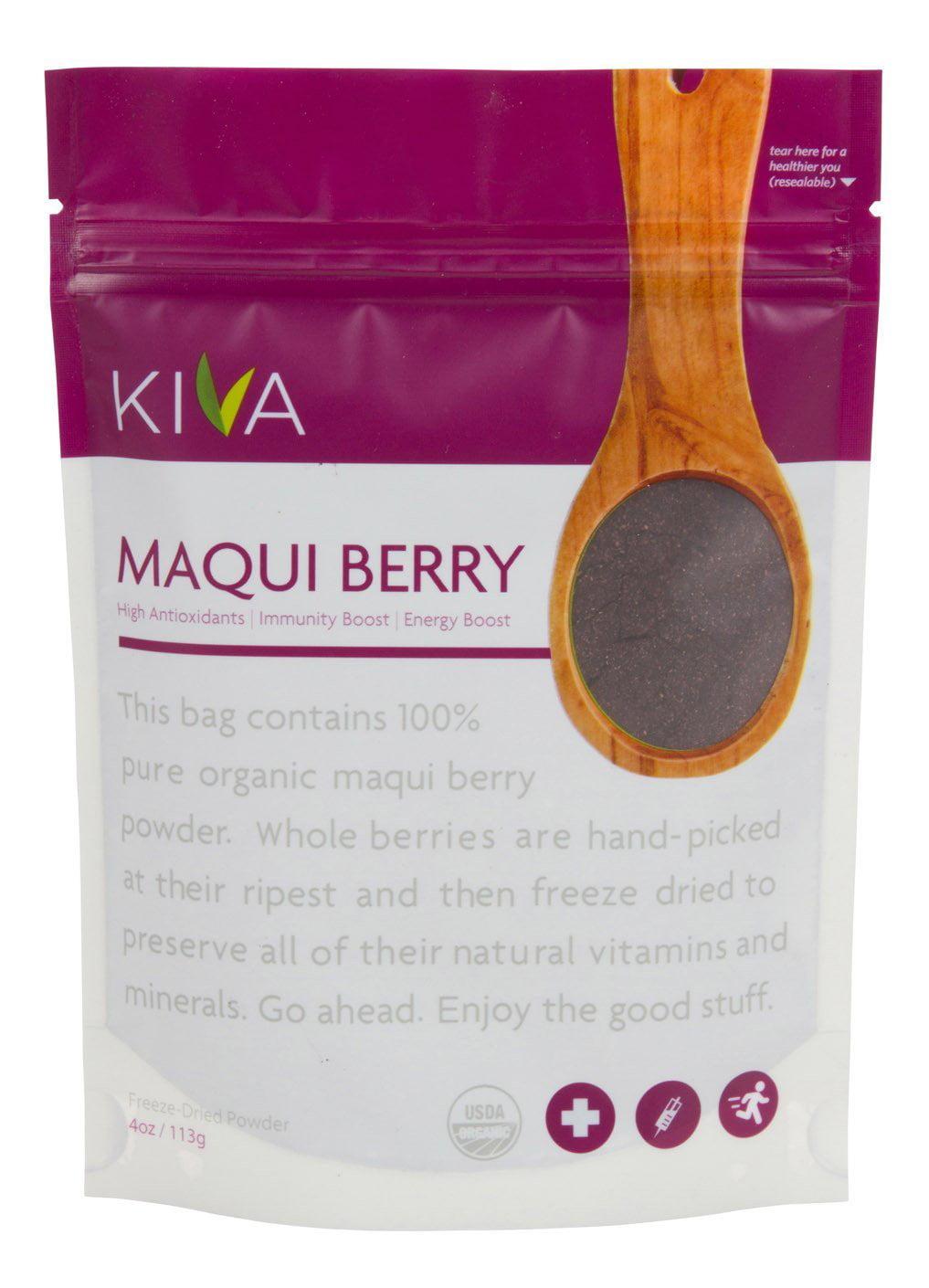 Kiva Organic Maqui Berry Powder Non Gmo Raw Vegan 4 Ounce Pouch Walmart Com Walmart Com