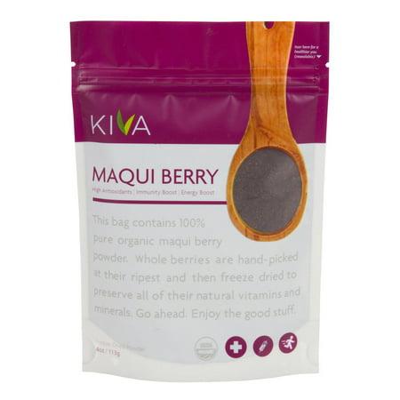 Kiva Organic Maqui Berry Powder - Non-GMO, Raw, Vegan, 4-Ounce