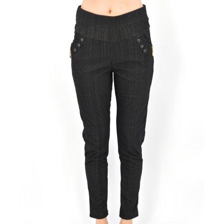 Women's Pull-On Stretch Fleece-Lined Skinny Pants