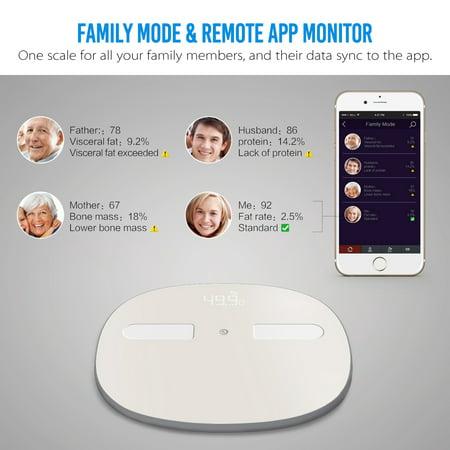 Digoo  Body Fat Weight Bathroom Scale LED Digital Smart h Phone APP Auto-sync Health Gym Analyse  - image 9 of 11