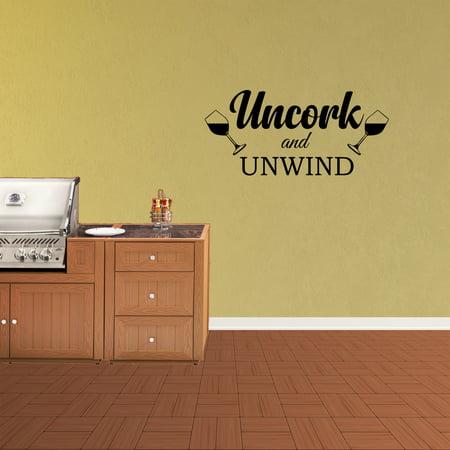 Uncork And Unwind Vinyl Wall Decal Quote Wine Kitchen Decor Words Gifts Sticker XJ485](Wine Halloween Quotes)