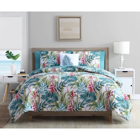 Mainstays Tropical Reversible Bed-in-a-Bag Comforter Set, Queen, Multi
