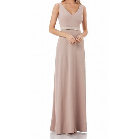 82af203110b Kay Unger Dresses - Kay Unger Women s V-Neck Ribbon Belt Gown Dress -  Walmart.com