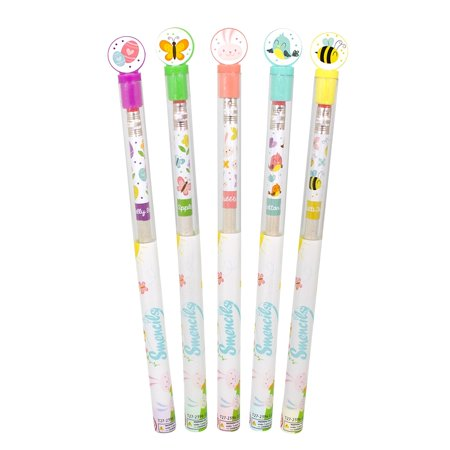 Sentco Spring SMENCILS, Gourmet Scented Pencils with Collectible Toppers (Pack of 5)