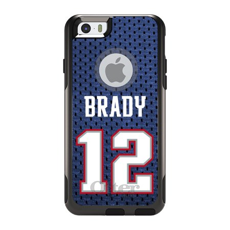 Distinctink  Custom Black Otterbox Commuter Series Case For Apple Iphone 6   6S  4 7   Screen    Brady 12 Jersey
