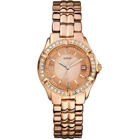 GUESS Women's U11069L1 Rose-Gold Stainless-Steel Quartz Watch ()