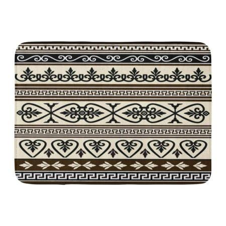 YUSDECOR Classical Ancient Collections Antique Borders Baroque Drawing Rug Doormat Bath Mat 23.6x15.7 inch - image 1 de 1