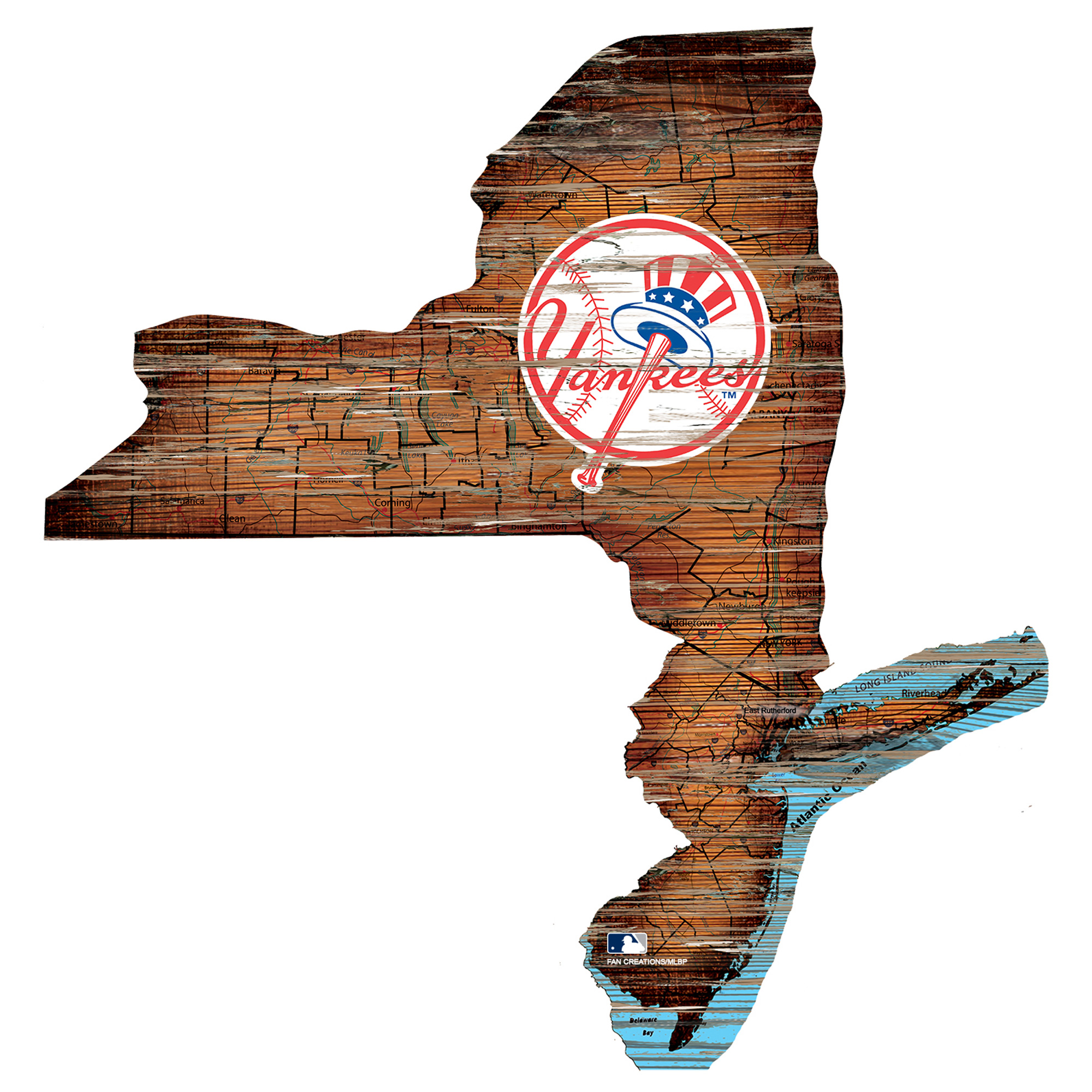 Fan Creations Cleveland Indians 12 Mini Roadmap State Sign