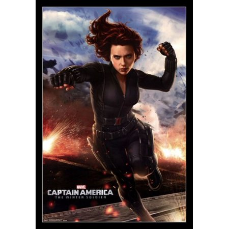 Captain America 2 The Winter Soldier - Black Widow Poster ...Captain America 2 Poster Black Widow