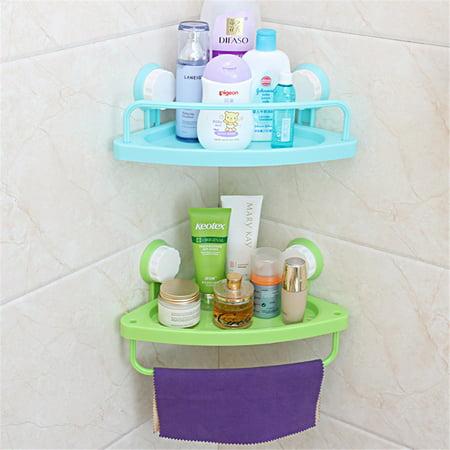 - Meigar Bath Corner Suction Shelf Shower Caddy Display Stand Bathroom Wall Corner Suction Cup Triangle Storage Shelves Rack Kitchen Organizer
