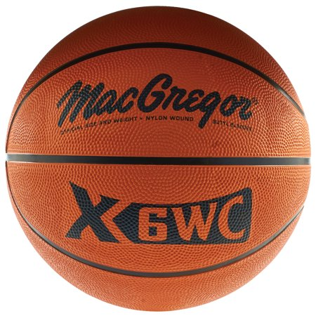 "MacGregor® Indoor/ Outdoor Official Size (29.5"") Rubber Basketball"