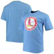 St. Louis Cardinals Big & Tall Cooperstown Collection Large Logo T-Shirt - Light Blue