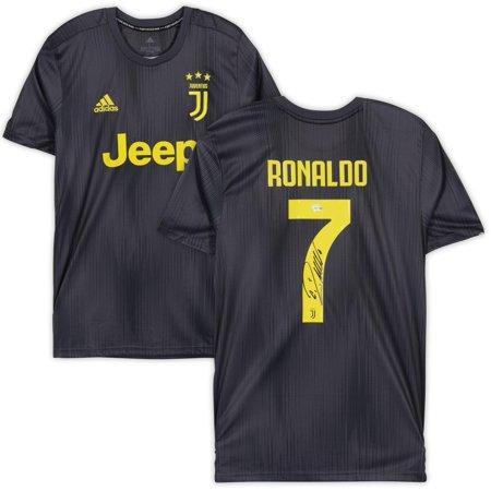 Cristiano Ronaldo Juventus F.C. Autographed 2018-2019 Black Adidas Replica Jersey - Fanatics Authentic Certified (Black Real Madrid Jersey Xxl)