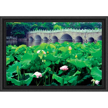 - Lotus Flowers on Riverbank Counted Cross-Stitch Chart