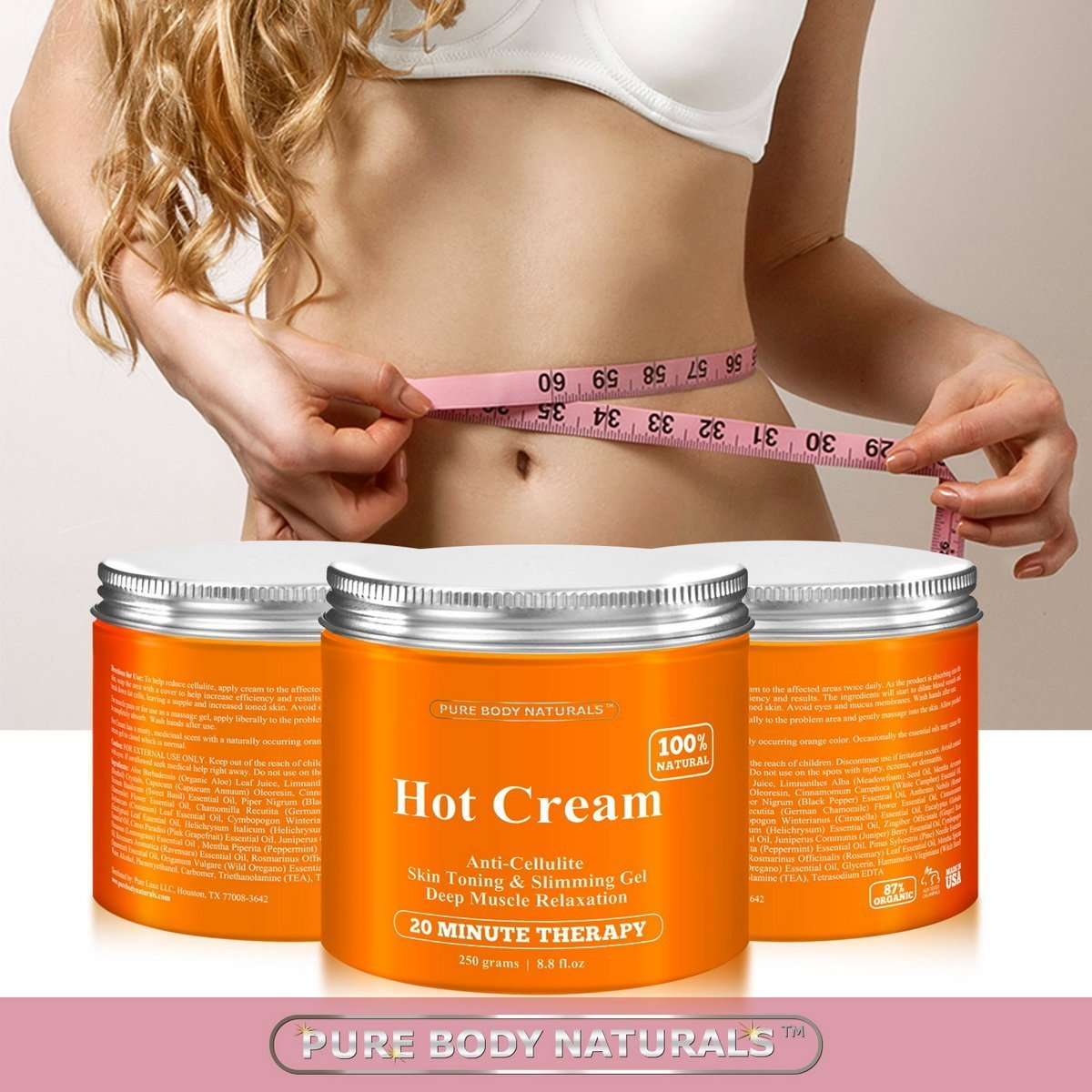 Cellulite Cream Muscle Relaxation Pain Relief Cream Huge 88oz