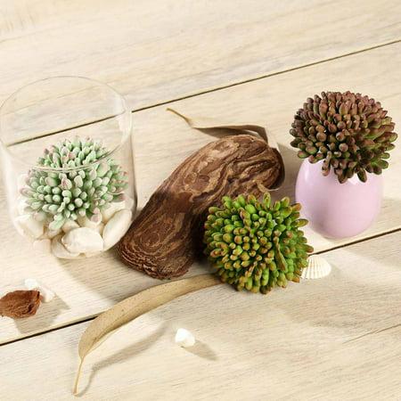 "Efavormart Set of 3 | 4"" Assorted Jelly Bean Artificial Faux Succulent Plants Mini Green Plants"