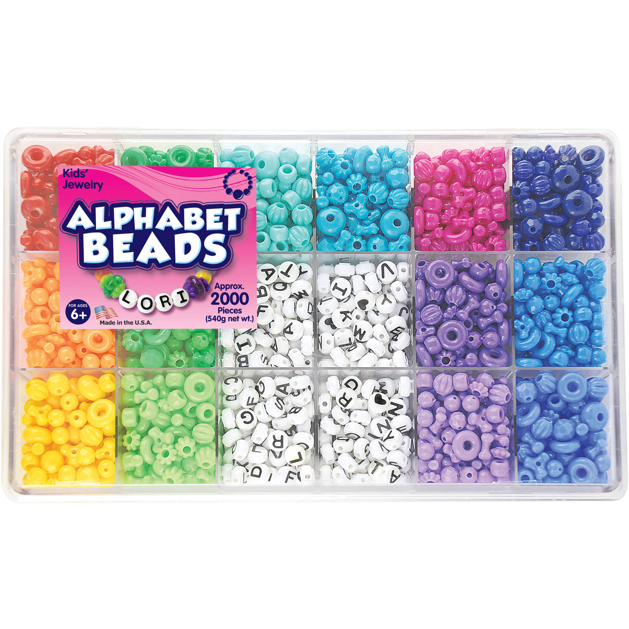 The Beadery Craft Products Alphabet Craft Bead Box