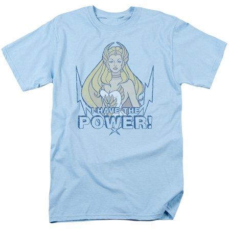Trevco SHE RA POWER Light Blue Adult Unisex T-Shirt - He Man And She Ra