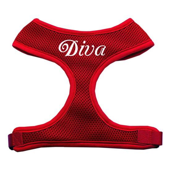 Diva Design Soft Mesh Harnesses Red Small