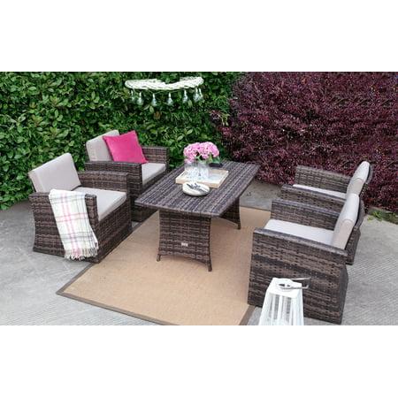 Baner Garden Outdoor Full Rattan Pool Patio Garden Cushions Mixed