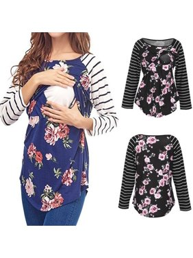 24e3d3f06bf05 Product Image US Maternity Clothes Nursing Top Breastfeeding T-Shirt For  Floral Pregnant Women. Honganda