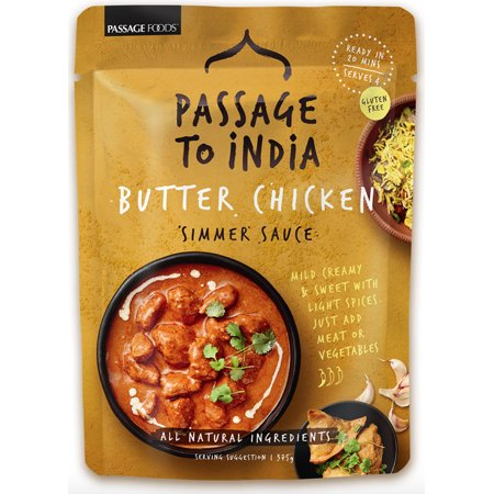 (2 Pack) Passage Foods Passage to India Simmer Sauce, Butter Chicken, 7