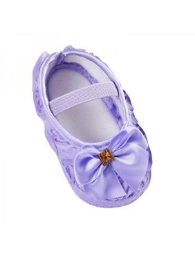 Newborn Infant Baby Girl Bowknot Soft Sole Crib Shoes Prewalker 0-18 Months