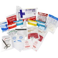 OSHA & ANSI First Aid Kit Refill / Upgrade, 25 Person, 73 Pieces, ANSI 2015 Class A for office, business, home or car boxes and cabinets