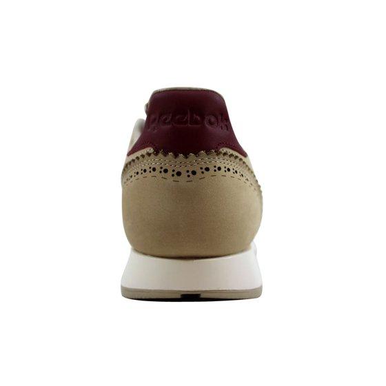 3b6a409c1d858 Reebok - Reebok Men s Classic Leather Lux Horween Sandstone Merlot ...