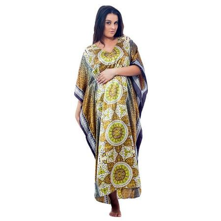 Up2date Fashion's Women's Caftan / Kaftan, Antique Forrestal Print](Antique Dress)