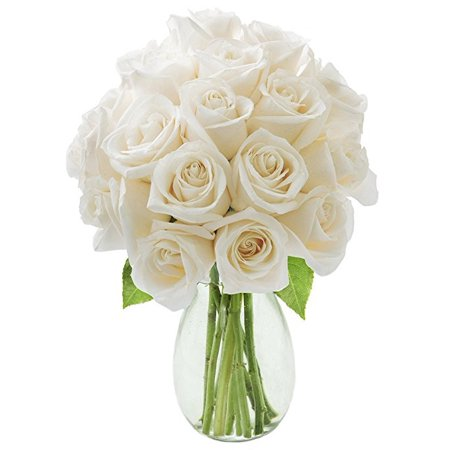 Kabloom bouquet of 18 white roses in a glass vase fresh flowers kabloom bouquet of 18 white roses in a glass vase fresh flowers for delivery mightylinksfo