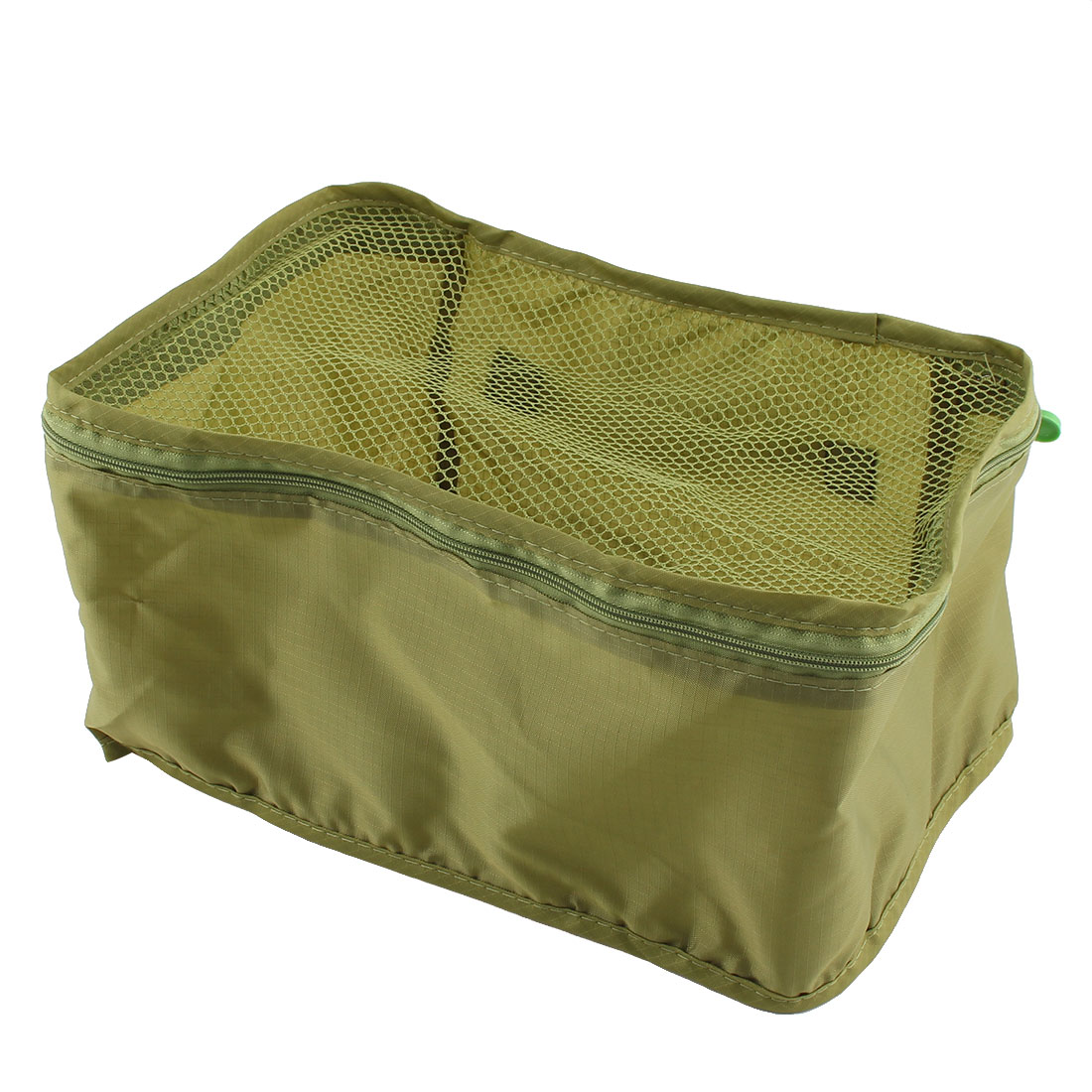 Travel Admission Foldable Zipper Closure Package Pouch Mesh Bag Frost Green - image 2 de 5