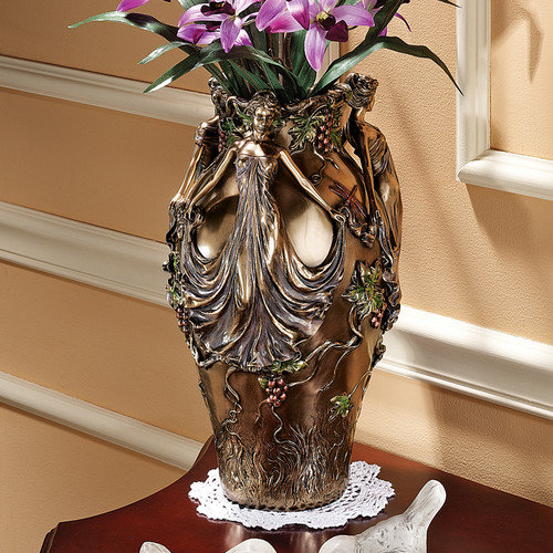 Dancing Maidens Centerpiece Urn Design Toscano Art Nouveau Decoration