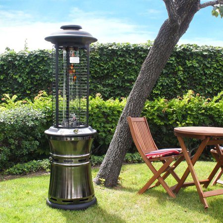 Lava Heat Italia Ember Collapsible Liquid Propane Gas Patio Heater Gun Metal Finish